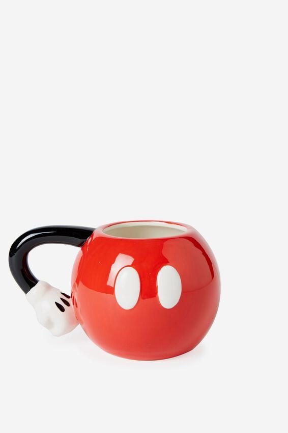 Disney Novelty Mug, LCN MICKEY PANTS RED