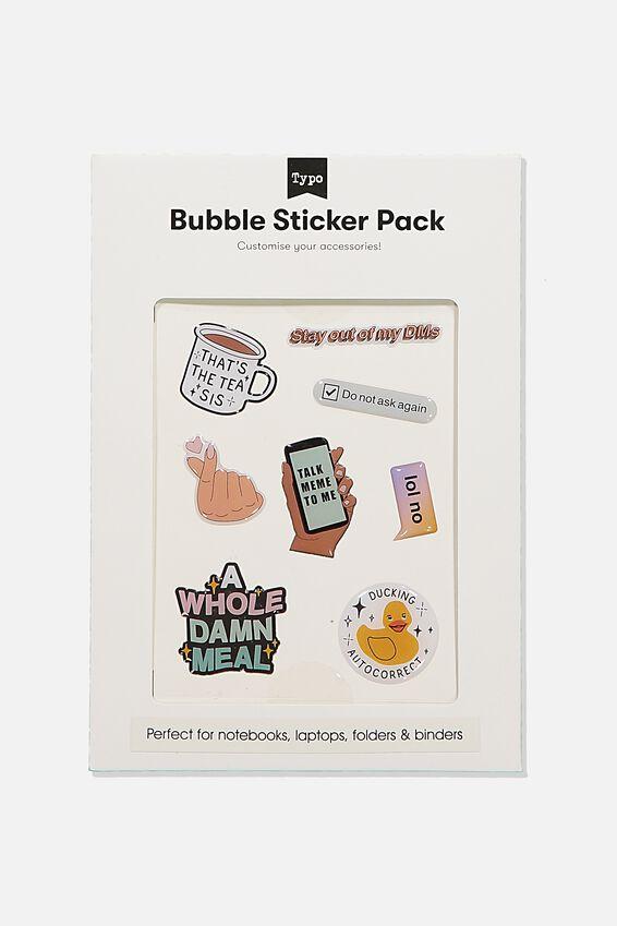 Bubble Sticker Pack, TALK MEME TO ME