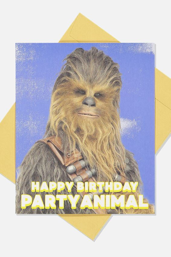 Star Wars Funny Birthday Card, LCN LU PARTY ANIMAL