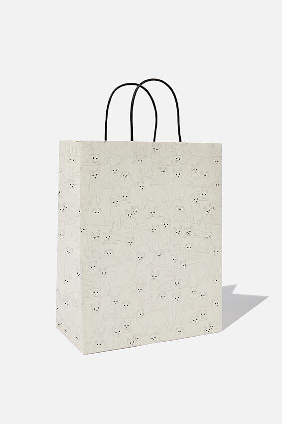 Get Stuffed Gift Bag - Medium, CAT REPEAT