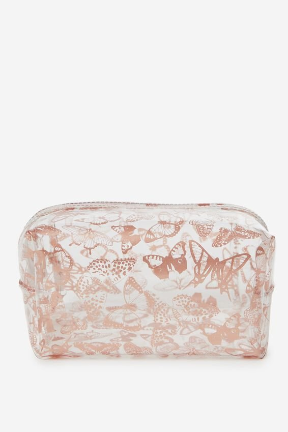 Made Up Cosmetic Bag, BUTTERFLY FOIL