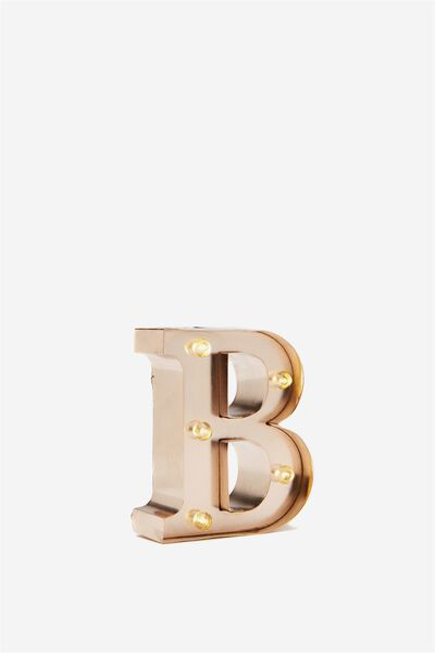 Mini Marquee Letter Lights 10cm, ROSE GOLD B