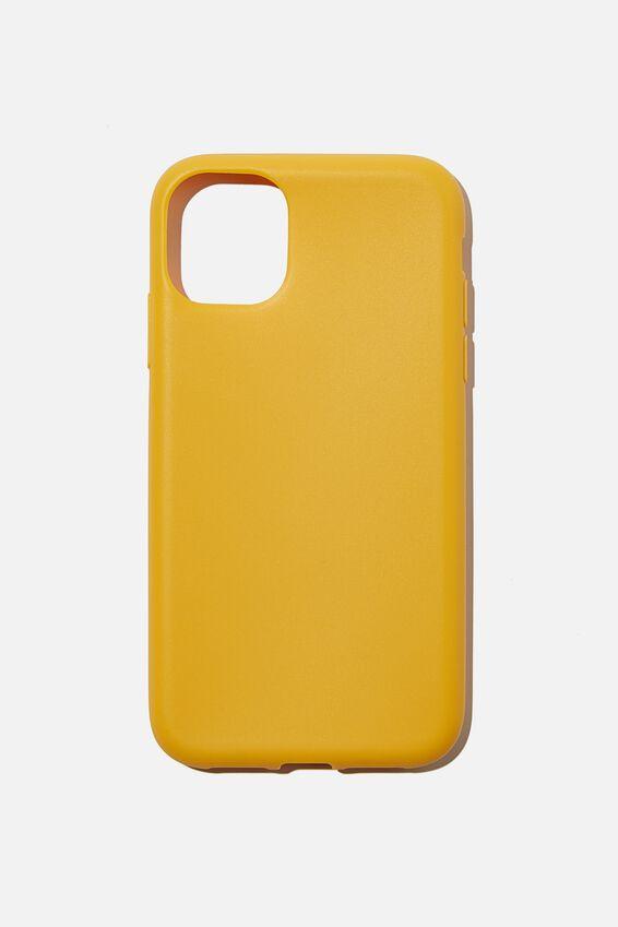 Slimline Recycled Phone Case Iphone 11, MUSTARD