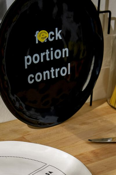 Stuff Your Face Plate, PORTION CONTROL!!