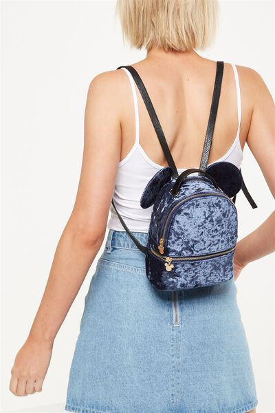 Mini Fashion Backpack, LCN NAVY MICKEY EARS