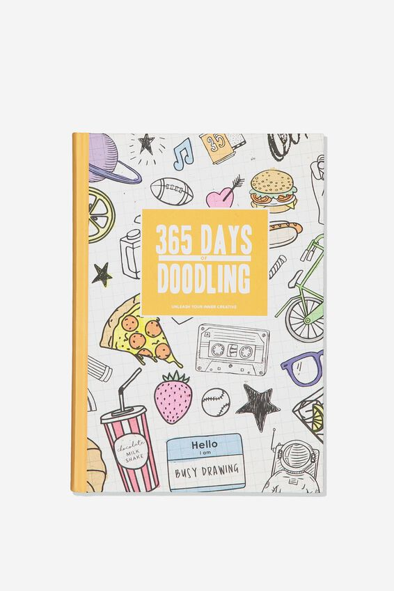A5 Doodling Activity Journal, 365 DAYS OF DOODLING