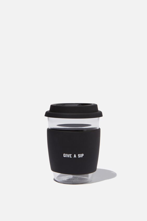 Give A Sip Cup 12Oz, BLACK