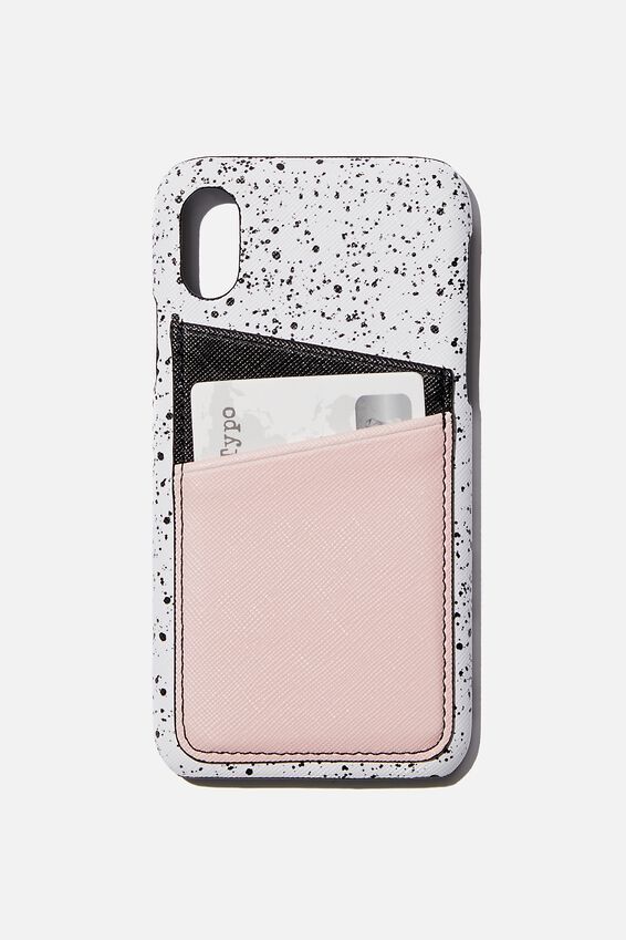 Cardholder Phone Case Iphone X,Xs, SPLATTER SPLICED