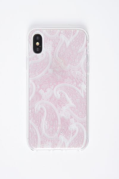 Printed Phone Cover X, BLUSH LACE