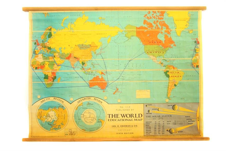 Vintage world map vintage world map vintage world gumiabroncs Gallery