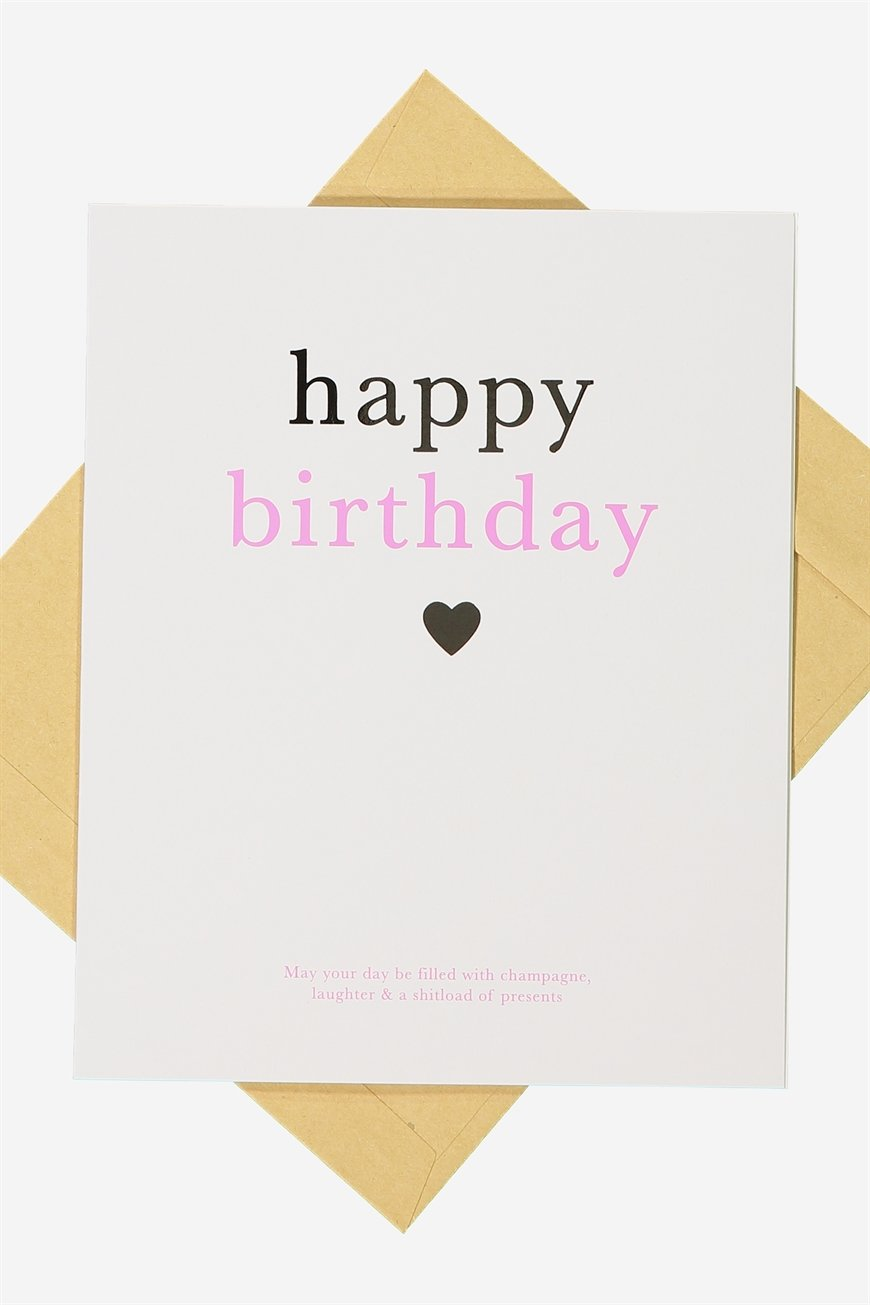 Typo - Nice Birthday Card - Birthday champagne!